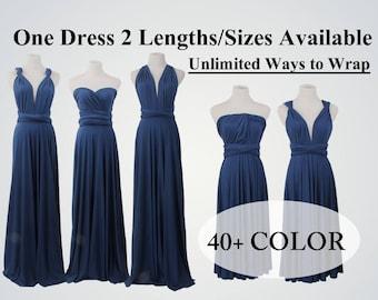 Navy Blue Infinity Dresses,Infinity Wrap Dress,Long Infinity Dress,Blue Dress,Convertible Dress,Infinity Dress Floor-Length