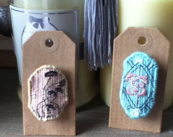 "Tapestry ""flower"" brooch"