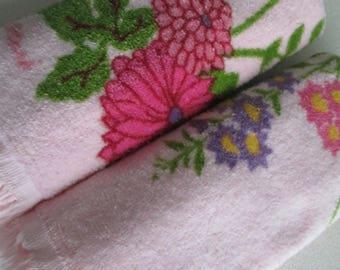 PINK Floral Hand Towel Set