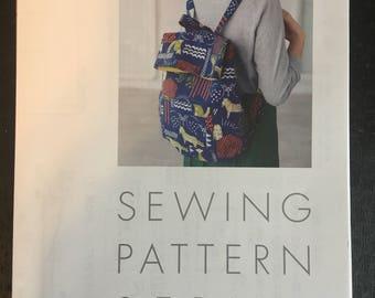 Japanese backpack   bag sewing pattern .