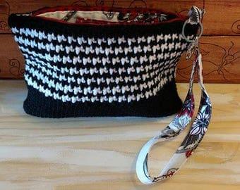 crochet Alabama Houndstooth small bag