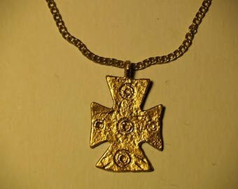 Byzantine Large Cross Necklace Replica