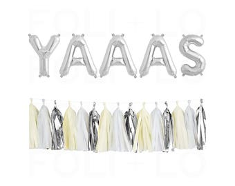 """YAAAS Letter Balloons 