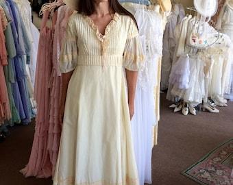 1970 Vintage Prairie Dress