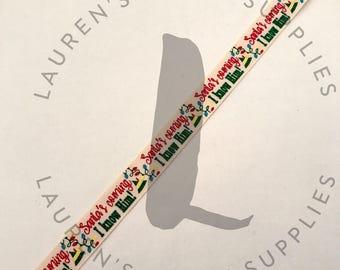"Elf Ribbon   Christmas Lights Ribbon   Christmas Ribbon   Hair Bow Ribbon   US Designer Ribbon   7/8"" Ribbon   Grosgrain Ribbon"