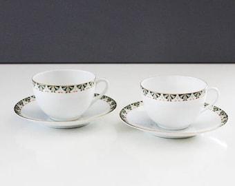 Retro Austria Teacups Set of 2