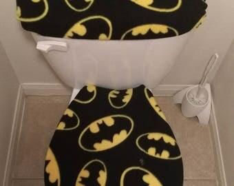 Batman Large Logo/Symbol Fleece Toilet Bathroom Accessories
