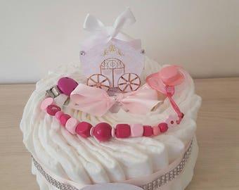 "beautiful Diaper cake: ""my little carriage"""