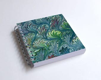 "Notebook 4x4"" decorated with motifs of marbled papers - 46"