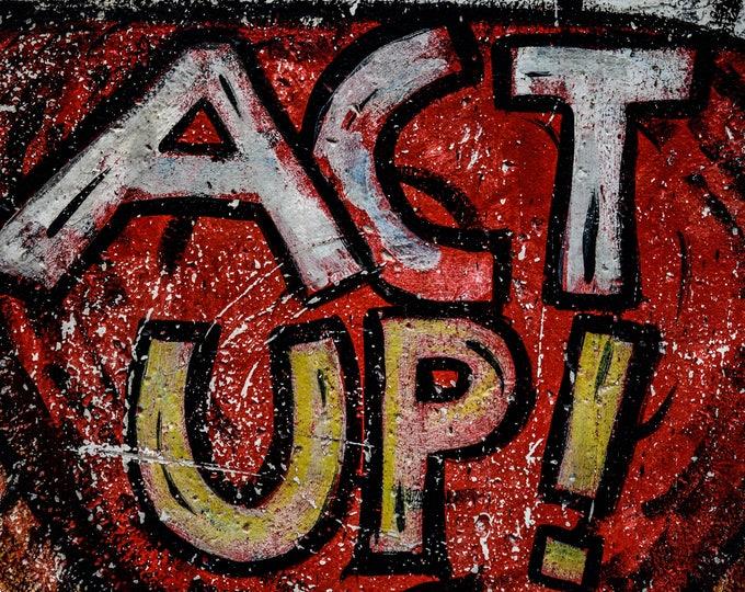 Berlin Wall Graffiti Act Up
