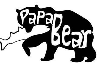 Papa Bear Vinyl Decal