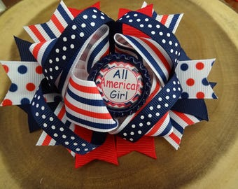 Patriotic Spike Bow