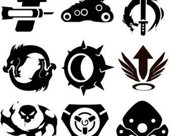 Overwatch Symbol Etsy