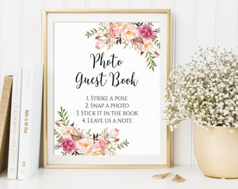 Photo Guest Book Sign, Wedding Photo Guest Book, Photo Guest Book Printable, Printable Wedding Sign, Wedding Guest Book Ideas, Sign, C1