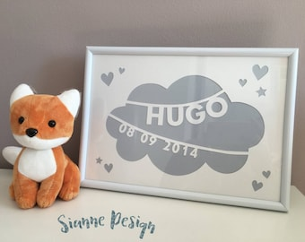 Baby/child personalized name frame