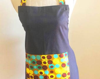 Wax and cotton kitchen apron