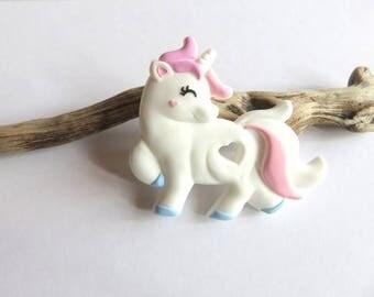 Pink Unicorn food grade silicone teething ring