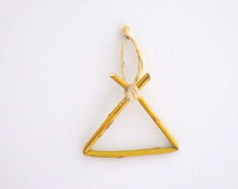 Embellishment wooden 8.5 x 6.5 cm triangle shape