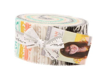 Savannah Jelly Roll  (40) 2.5 Inch Strips by Gingiber for Moda Fabrics #48220JR 100% Cotton
