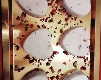Valentine's Bath Bomb-Rose Petal Bath Bomb- Valentine's Day Gift- Bath Bomb- Essential Oils Bath Bomb-Rose Bergamot- Order of 6