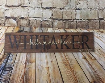 Personalized Wooden Sign - Custom Wedding Sign - Personalized Wedding Gift - Family Wooden Sign - Gift for Bridal Shower - Custom Wood Sign