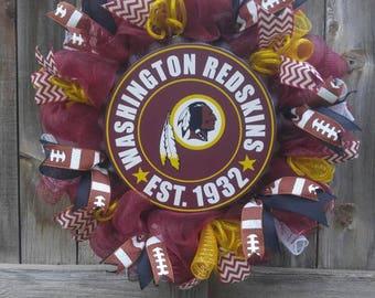 Football team wreath, NFL team wreath, sports wreath, man cave wreath