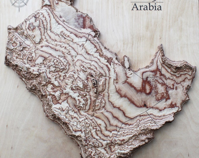"Map of Arabian Peninsula 20"" x 20"""