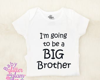 Big Brother Shirt, Promoted to Big Brother, Big Brother Baby Announcement, I'm going to be a Big Brother, Big Bro Boy Sibling Shirt