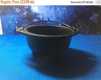 SUPER SALE Cast Iron Cauldron 6 inch for Smudge Pot, Magic Use, Rituals, Wicca Tools, Altar Tools, Kitchen Tools, Resin Use