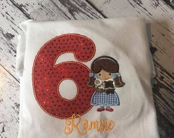 Custom Dorothy birthday shirt
