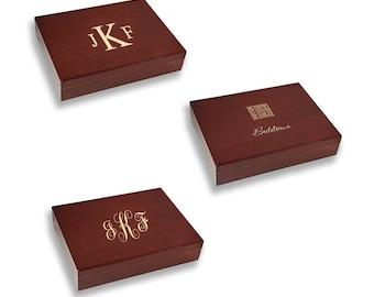 Monogram Cigar Humidor - Custom Wood Cigar Box - Personalized Cigar Case - Gift for Him - Cigar Lover Gift - Groom's Present - Cigar Storage