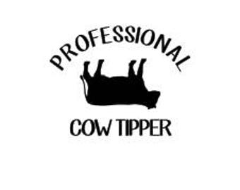 Professional Cow Tipper SVG
