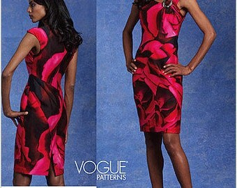 Vogue V1118 Size 6-12 Misses Tracy Reese Close Fitting Lined Dress Sewing Pattern / Uncut FF