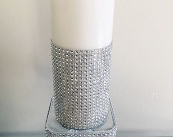 Bling Unity Candle holder unity candle holder, with Candle