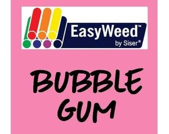 Siser EasyWeed Heat Transfer Vinyl - HTV - Bubble Gum