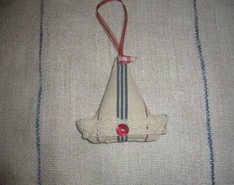 Lavender Filled Hanging Boat Decoration