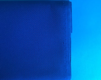Christmas blue aida fabric, permin, 14 count aida, cross stitch fabric, embroidery fabric, 100% cotton aida, premium cross stitch supply