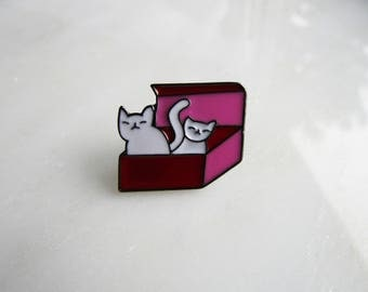 Cat Box Pin