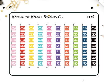 1176~~Weekend Banner Planner Stickers.