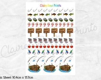 FISHING Planner Stickers