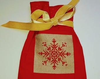 Pochon de Noël rouge