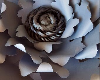 Paper Flower Templat PDF digital template with SVG loopy centre (as in photo)#68