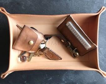 leather tray desk tidy valet tray - Valet Tray
