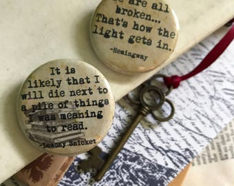 "Literary Quotes: 1.25"" Pinback Button"