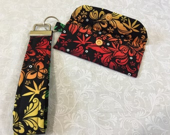 Key Fob Keychain Wristlet with matching wallet