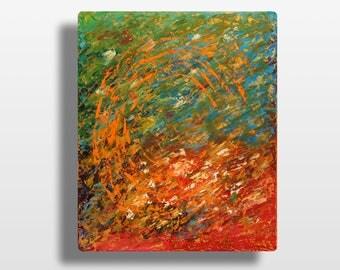 Tableaux art abstrait peinture de paysage par michaelleartgallery - Peinture abstraite coloree ...