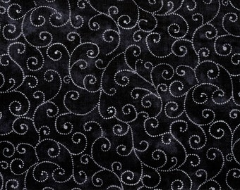 "Moda Basics ""MARBLE SWIRLS""  ~ 9908-29 Jet ~ Tonal Black with Swirls ~ Half Yard Increments"
