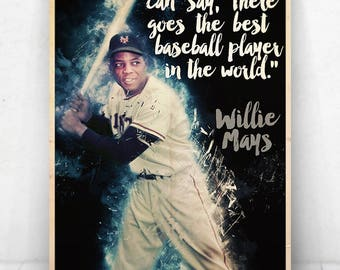Willie Mays Illustration / Willie Mays Poster / Willie Mays / Giants / #24
