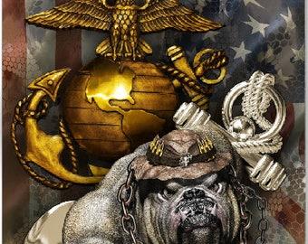 Marines Dog of War Flag Cornhole Wrap Bag Toss Decal Baggo Skin Sticker Wraps