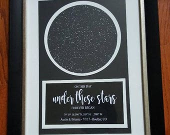 Custom Star Map - New Baby, Wedding, Anniversary, Birthdays